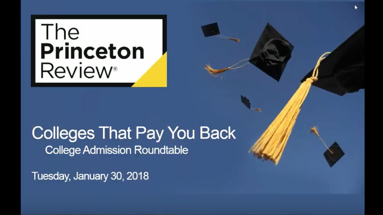 Colleges That Pay You Back webinar