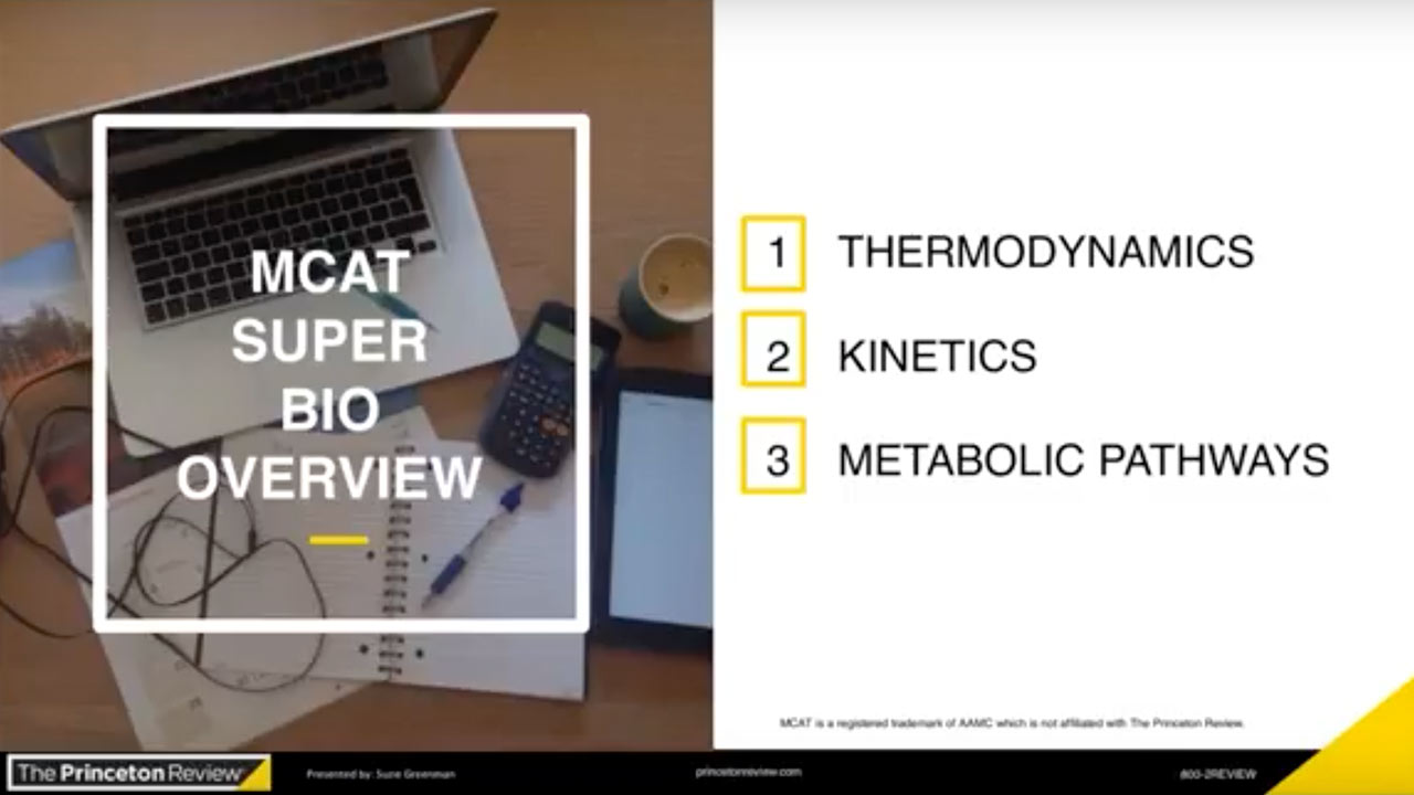 screenshot  MCAT Spotlight: Biology & Biochemistry